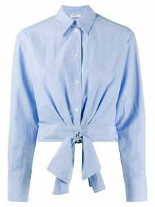 Sandro Paris cropped shirt - Blue
