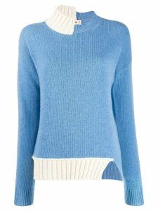 Marni knitted two-tone jumper - Blue