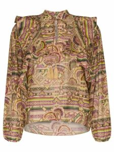 Chufy Nina printed cotton and silk-blend blouse - NEUTRALS