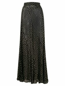 GANNI dot print maxi skirt - Black