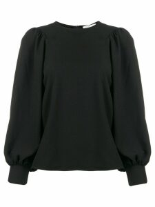 GANNI heavy crepe blouse - Black