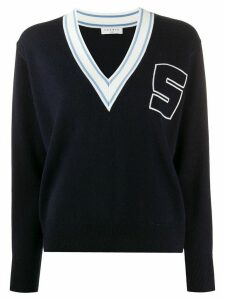 Sandro Paris S v-neck jumper - Blue