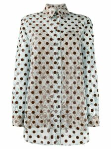 Marco De Vincenzo embroidered polka dot shirt - Blue