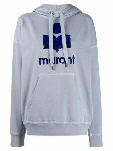 Isabel Marant Étoile logo print hoodie - Blue