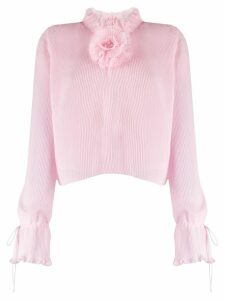 Marco De Vincenzo pleated flower detail blouse - PINK