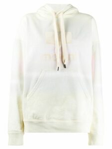 Isabel Marant Étoile faded effect logo print hoodie - Yellow