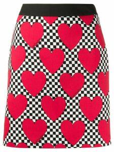 Love Moschino heart print skirt - Red