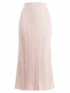 Jil Sander knitted midi skirt - PINK