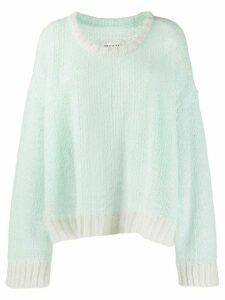 Maison Margiela loose knitted jumper - Green
