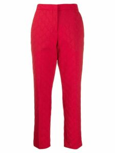 Marco De Vincenzo cropped zigzag trousers - Red