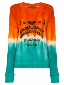 The Elder Statesman Ouija tie-dye cashmere sweater - ORANGE