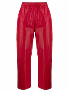 Pinko high rise cropped trousers - Red
