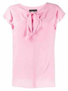Boutique Moschino knot detail blouse - PINK