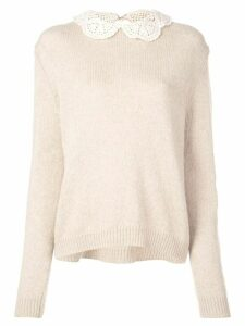 Marc Jacobs The Crochet Collar jumper - Brown
