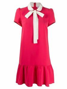 RedValentino contrast pussybow short dress