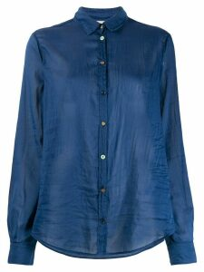 Forte Forte crease effect sheer shirt - Blue