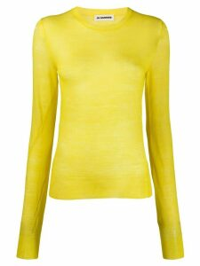 Jil Sander fine knit jumper - Yellow