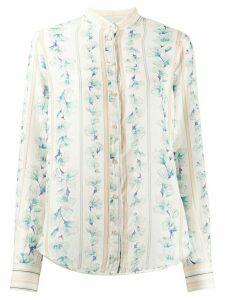 Forte Forte floral striped print shirt - NEUTRALS