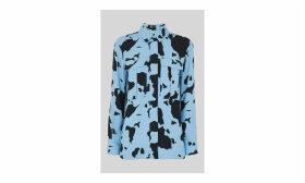 Cow Print Military Shirt