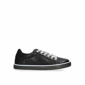 Kurt Geiger London Mini Lambert - Black Logo Lace Up Trainers Ages 8-13