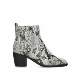 Carvela Spell - Snake Print Block Heel Chelsea Boots