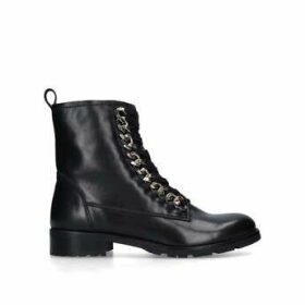 Carvela Saviour - Black Chain Detail Biker Boots