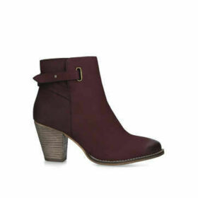 Carvela Wide Fit Smart - Wide Fit Wine Block Heel Ankle Boots