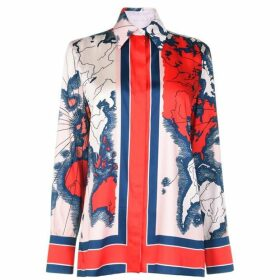 Victoria by Victoria Beckham Map Print Shirt