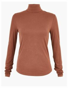 Per Una Ribbed Turtle Neck Slim Fit Top