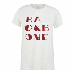 Rag and Bone R And B Logo Tee Ld01