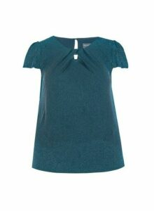 Womens **Billie & Blossom Curve Teal Shell Top- Blue, Blue