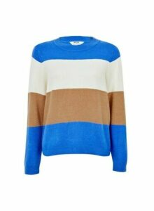 Womens Petite Colour Block Jumper- Multi Colour, Multi Colour