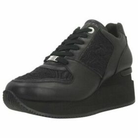 Apepazza  RUNNING WEDGE LACED  women's Shoes (Trainers) in Black