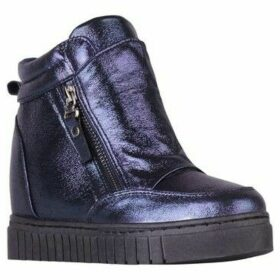 Krisp  Metallic Fashion Wedge Trainers  women's Shoes (High-top Trainers) in Blue