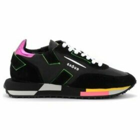 Ghoud  Rush sneaker in black leather and suede with fluo details  women's Shoes (Trainers) in Other