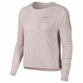 Nike  Dry Medalist Running Top  women's Sweatshirt in Pink