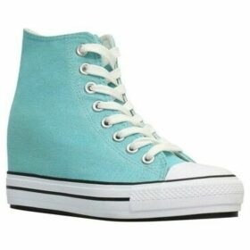Krisp  Glitter High Top Wedge Trainers  women's Shoes (High-top Trainers) in Blue