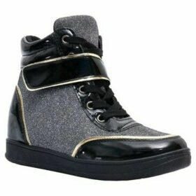 Krisp  Fashion Lurex Wedge Trainers  women's Shoes (High-top Trainers) in Silver