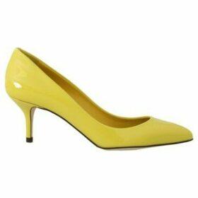 D G  Yellow Patent Leather Pumps  women's Court Shoes in multicolour