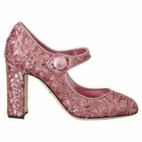 D G  Pink Sequined Mary Janes Shoes  women's Court Shoes in multicolour