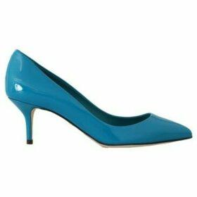 D G  Blue Patent Leather Pumps  women's Court Shoes in multicolour