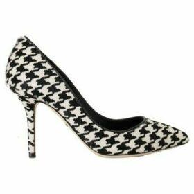 D G  White Black Hair Leather Pumps  women's Court Shoes in multicolour