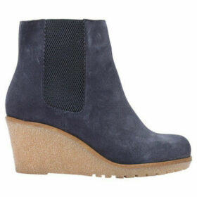 Bensimon  Suede leather boots with wedge heels  women's Low Ankle Boots in Blue