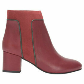 Bensimon  Heeled leather ankle boots  women's Low Ankle Boots in Red