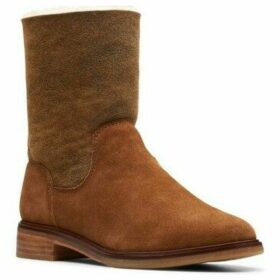 Clarks  Clarkdale Ax Hot Womens Mid-Calf Boots  women's Mid Boots in Brown