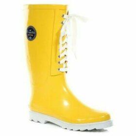 Regatta  Bayeux II Lace Up Wellingtons Yellow  women's Wellington Boots in Yellow