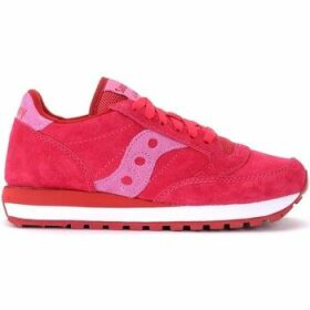 Saucony  Jazz sneaker in fuchsia suede  women's Shoes (Trainers) in Red