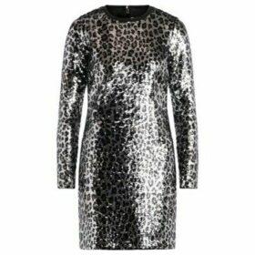MICHAEL Michael Kors  leopard-effect dress made of sequins  women's Dress in Grey