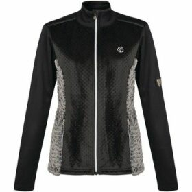 Dare 2b  Impearl Full Zip Faux Fur Luxe Stretch Midlayer Black  women's Blouse in Black