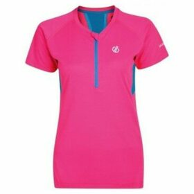 Dare 2b  Tribe Half Zip Cycle Jersey Pink  women's T shirt in Pink
